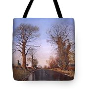 Winter Morning On Calverton Lane Tote Bag