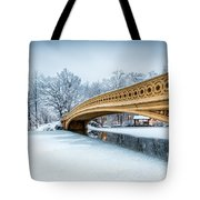 Winter Morning With Bow Bridge Tote Bag