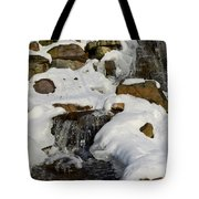 Winter Mountain Stream Tote Bag