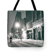 Winter Night - New York City - Lower East Side Tote Bag