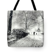 Winter Night - Snow - Madison Square Park - New York City Tote Bag by Vivienne Gucwa