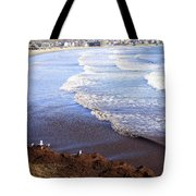 Winter Ocean In Newport Ri Tote Bag