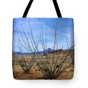 Winter Ocotillo Garden Tote Bag