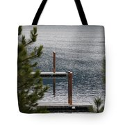 Winter On Lake Coeur D' Alene Tote Bag