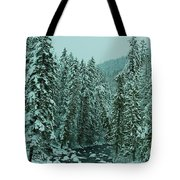Winter On The American River Tote Bag