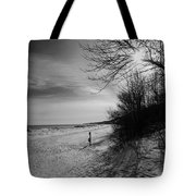 Winter On The Beach  Tote Bag
