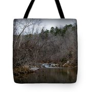 Winter On The Eno River At Fews Ford Tote Bag