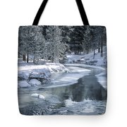 Winter On The Firehole River - Yellowstone National Park Tote Bag by Sandra Bronstein