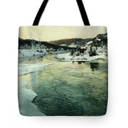 Winter On The Mesna River Near Lillehammer Tote Bag by Fritz Thaulow