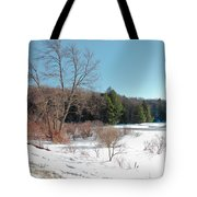 Winter On The Moose River - Old Forge New York Tote Bag