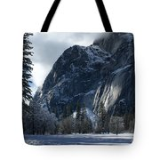 Winter On The Valley Floor Tote Bag