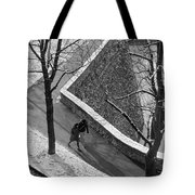 Winter On The Walls Of Bergamo Tote Bag