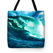 Winter Pacific Surf Tote Bag