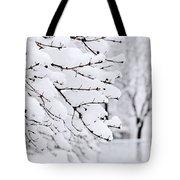 Winter Park Under Heavy Snow Tote Bag by Elena Elisseeva