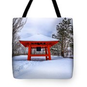 Winter Peace Bell Tote Bag