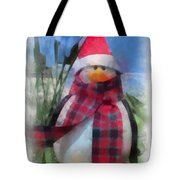 Winter Penguin Photo Art Tote Bag