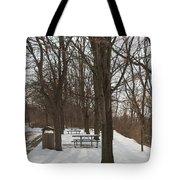 Winter Picnic Tote Bag