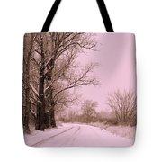 Winter Pink Tote Bag