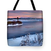 Winter Quiet And Colorful Tote Bag