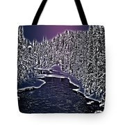 Winter River Oulanka National Park Lapland Finland  Tote Bag