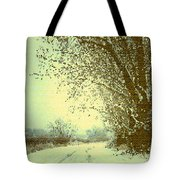 Winter Road Abstract  Tote Bag