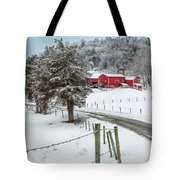 Winter Road Square Tote Bag by Bill Wakeley