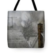 Winter Rooftops Tote Bag