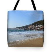 Winter Sand Beach Acadia Tote Bag