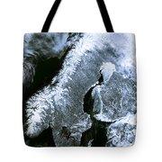 Winter Scandinavia Satellite Map Tote Bag