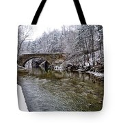 Winter Scene At Valley Green Tote Bag
