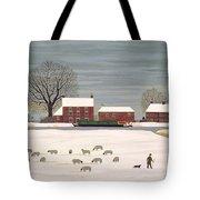 Winter Scene In Lincolnshire Tote Bag