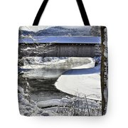 Winter Scene In Montgomery Tote Bag