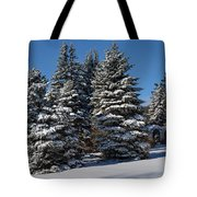 Winter Scenic Landscape Tote Bag