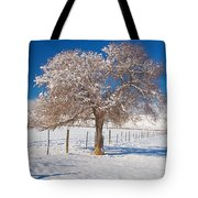 Winter Season On The Plains Portrait Tote Bag