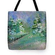 Winter Silence Tote Bag by Lauren Heller