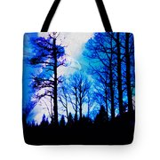 Winter Silhouettes - Ghost Eagle Tote Bag
