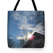 Winter Sky On Midday Tote Bag