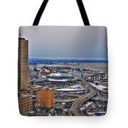 Winter Skyway Downtown Buffalo Ny Tote Bag