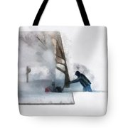 Winter Snow Blower Photo Art Tote Bag