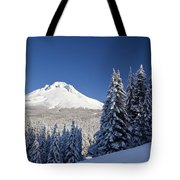 Winter Snow Over The Cascade Range Tote Bag