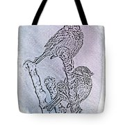 Winter Sparrows 1 Tote Bag by Betty LaRue