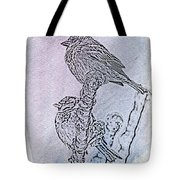 Winter Sparrows 2 Tote Bag