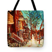 Winter Staircase Tote Bag