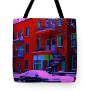 Winter Staircases Two Tote Bag