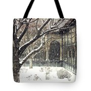 Winter Storm At The Cloisters 3 Tote Bag
