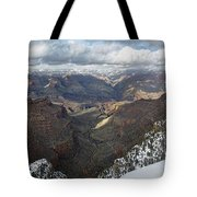 Winter Storm At The Grand Canyon Tote Bag