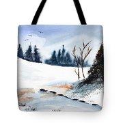 Winter Stream        Tote Bag