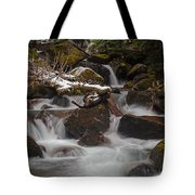Winter Stream Tranquility Tote Bag