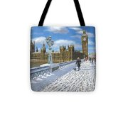 Winter Sun - Houses Of Parliament London Tote Bag
