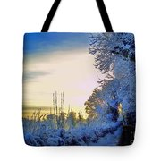 Winter Sunburst Tote Bag